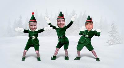 funny looking elves.